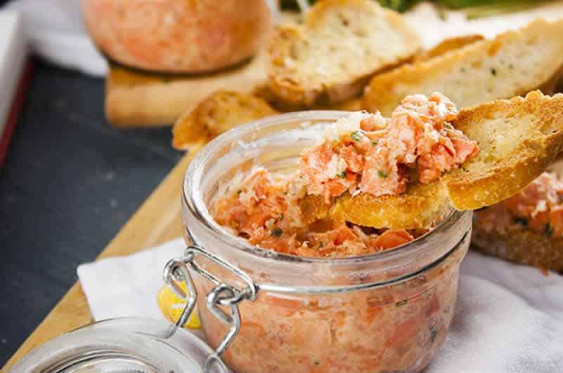 Rillette de saumon recette ww au thermomix recette thermomix - Recette thermomix regime ...