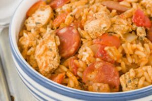 Risotto ou Jambalaya Chorizo et Poulet au cookeo