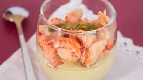 Verrine asperges vertes et crevettes au thermomix