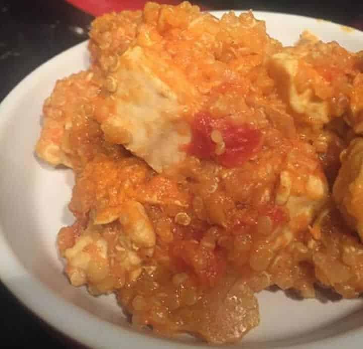 Poulet quinoa et lentilles corail au Cookeo