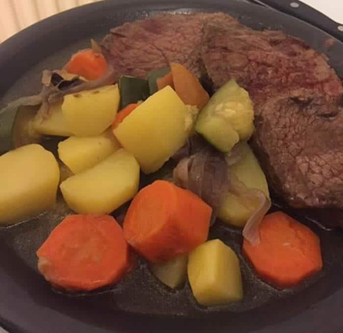 Roosbeef et ses légumes au Cookeo