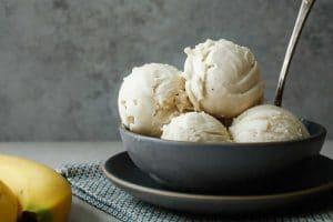 Glace à la banane et vanille sans sucre avec thermomix