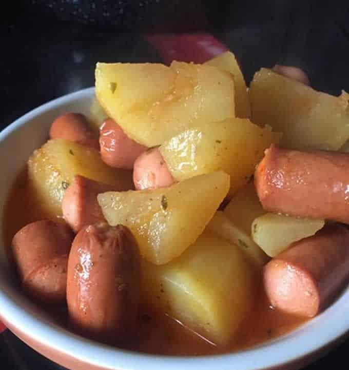 Knacki aux pommes de terre avec cookeo