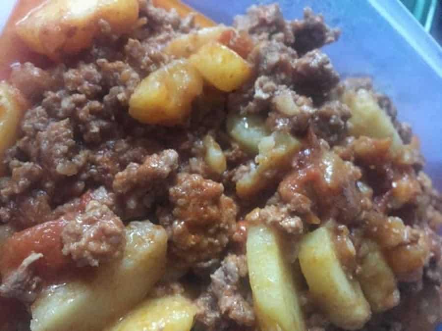 Viande haché tomate pommes de terre au Cookeo