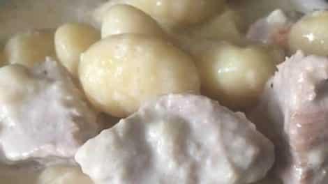 Filet mignon sauce maroilles et gnocchis au Cookeo