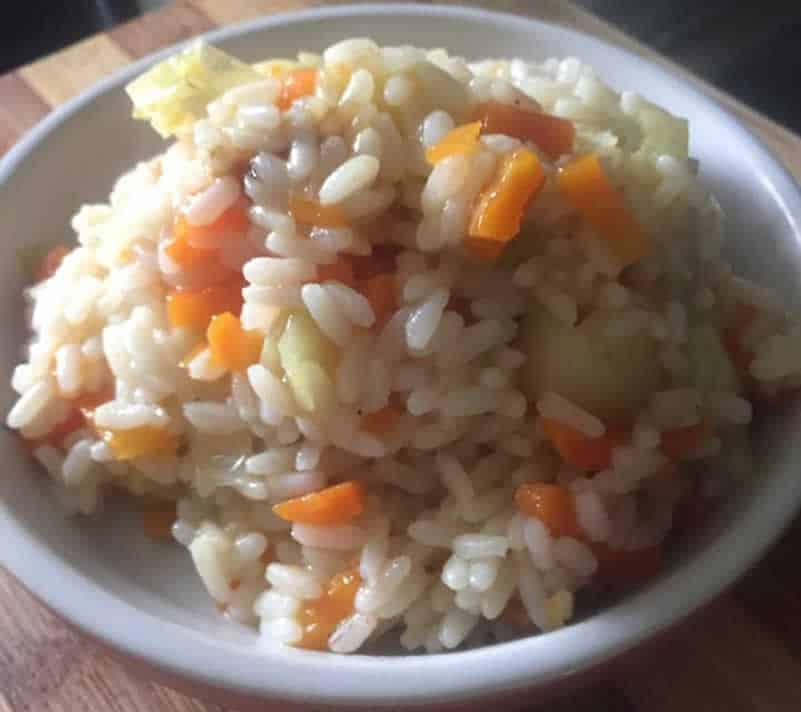 Risotto poireaux carotte au Cookeo