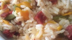 Risotto poivron chorizo au Cookeo