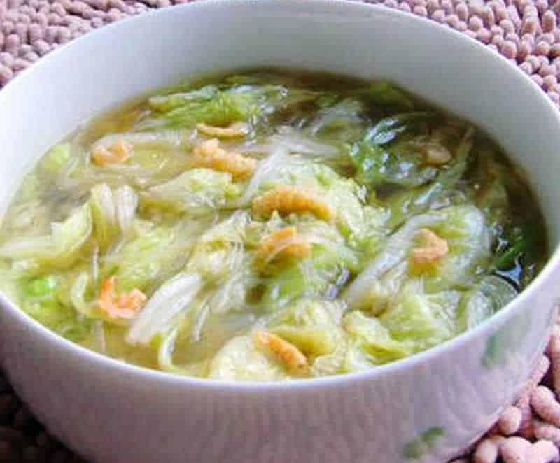 Soupe de chou chinois aux crevettes avec thermomix - Recette soupe thermomix ...
