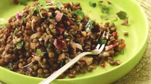 Salade de lentilles vertes au thermomix