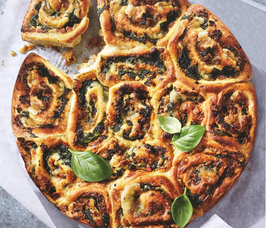 Tarte bouquets de pesto mozzarella au thermomix