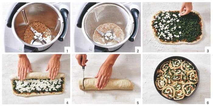 Tarte bouquets de pesto mozzarella