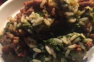 Viande hachée épinards et riz au Cookeo