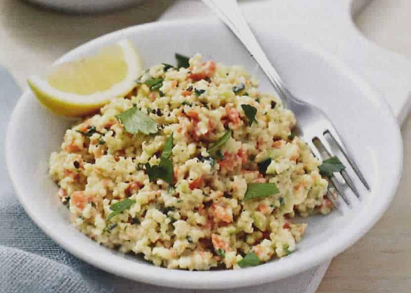 Couscous avec salade de légumes au thermomix
