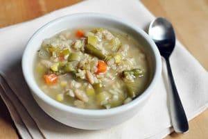 Bouillon de légumes au riz avec cookeo
