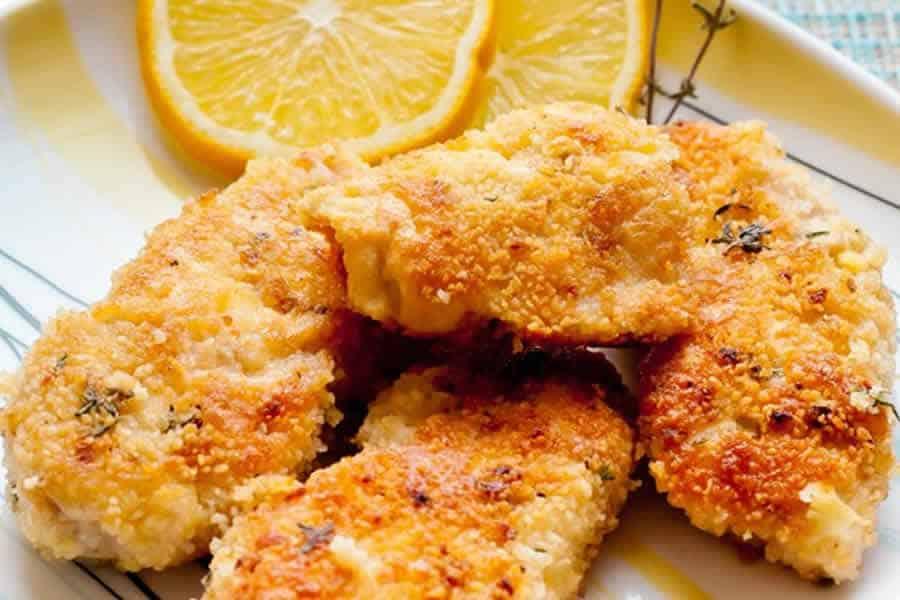 Côtelettes de poulet au parmesan weight watchers