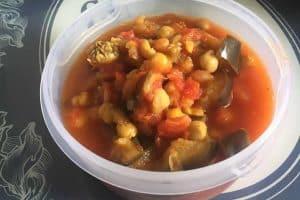 Curry d'aubergine et pois chiche au Cookeo