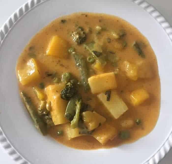 Curry de légumes aux fruits avec cookeo