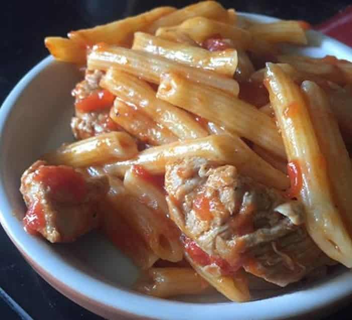 Filet mignon et ses pâtes à la sauce tomate au Cookeo