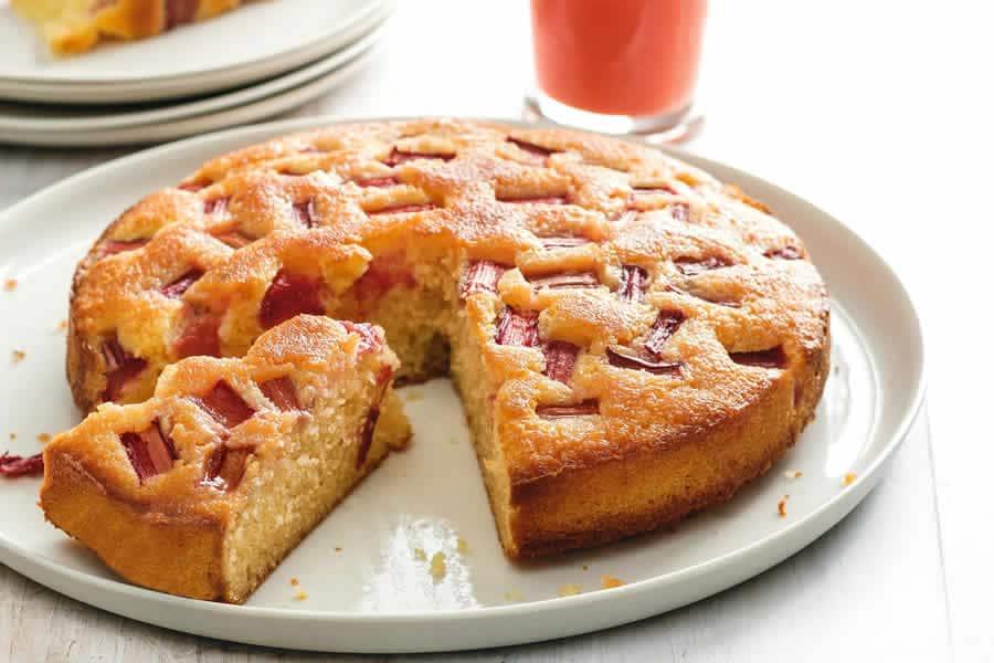 Gâteau amandine à la rhubarbe avec thermomix