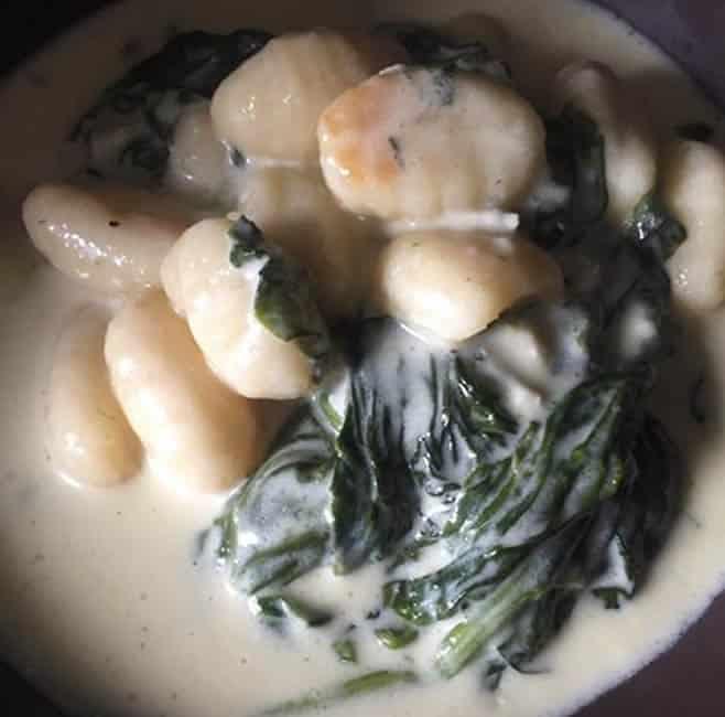 Gnocchis aux épinards et au gorgonzola au Cookeo