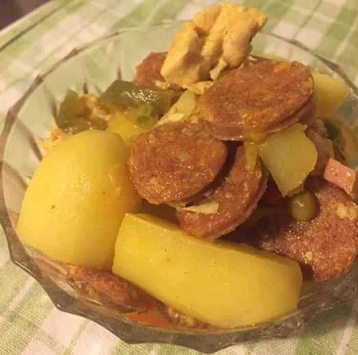 Pommes de terre à l'espagnole au Cookeo