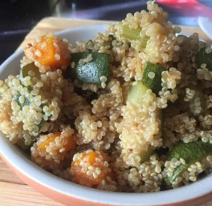 Quinoa vegan aux petits légumes au Cookeo