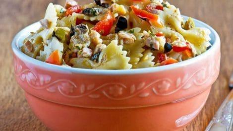 Salade au thon et pâte Weight Watchers