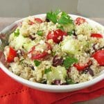Salade de quinoa aux légumes et au thon weight watchers