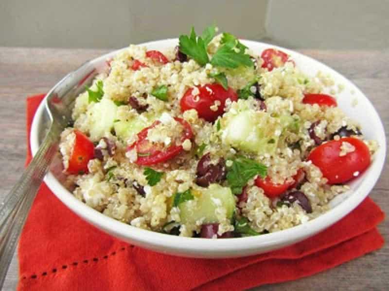 Salade de quinoa aux légumes et au thon weight watchers