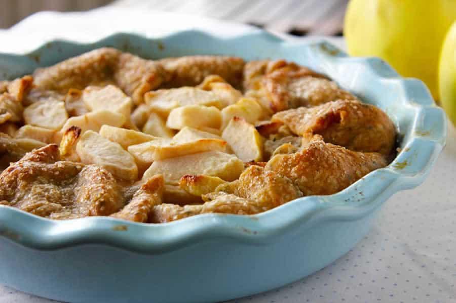 Tarte aux pommes sans pâte avec thermomix