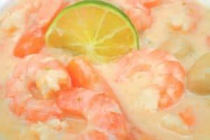 Blanquette de crevettes recette Weight Watchers