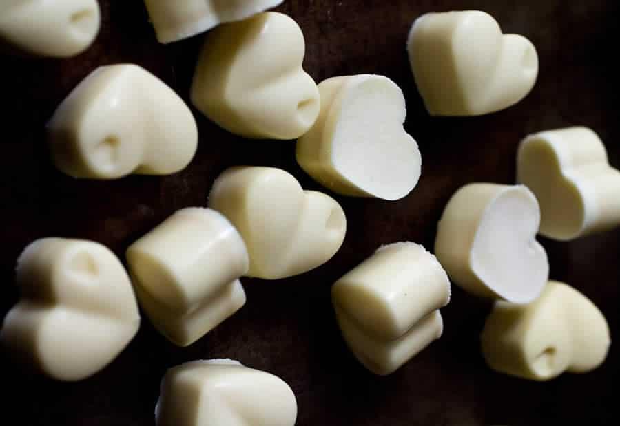 Chocolats blancs fait maison au thermomix