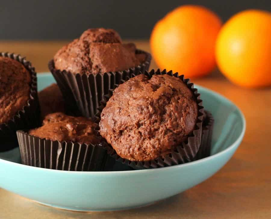 Muffins au chocolat et à l'orange avec Thermomix