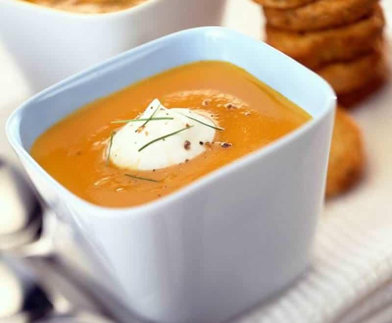 soupe de carottes la normande avec thermomix recette. Black Bedroom Furniture Sets. Home Design Ideas