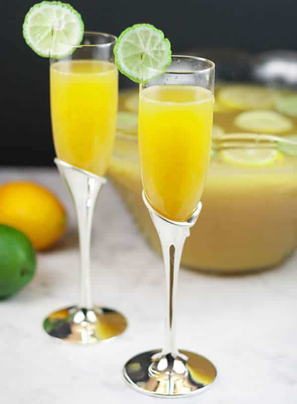 Punch citron champagne au Thermomix