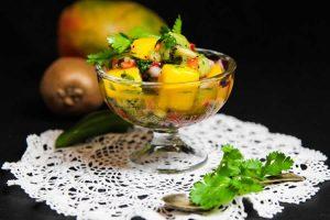 Salade mangue-kiwi épicée au thermomix