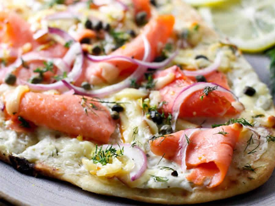 Pizza au saumon fumé au thermomix
