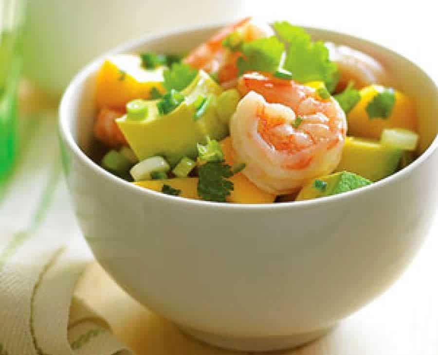 Salade de crevettes mangue et avocats au thermomix