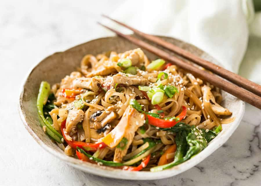 Nouilles thaï au poulet au thermomix