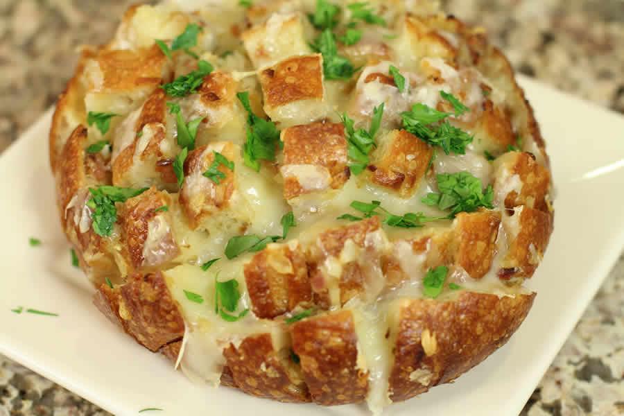 Pain h risson beurre d 39 ail et mozzarella au thermomix - Beurre d escargot thermomix ...