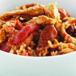 risotto poulet chorizo au thermomix recette thermomix. Black Bedroom Furniture Sets. Home Design Ideas
