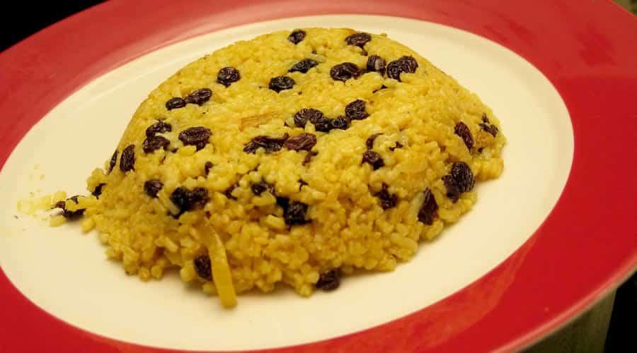 Riz au curry et raisins secs au thermomix