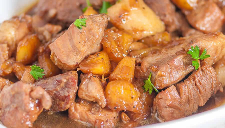 Sauté de porc à l'ananas au thermomix