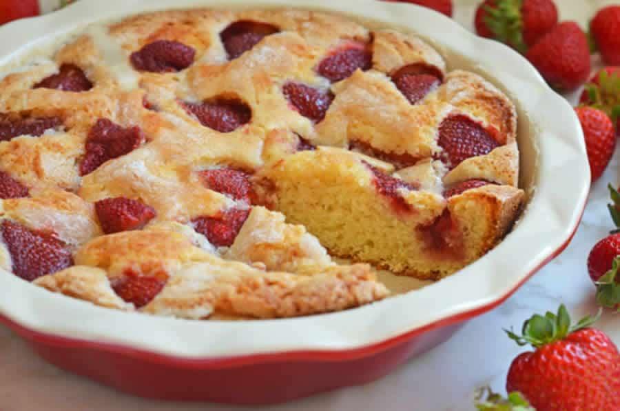 Cake à la fraise au thermomix