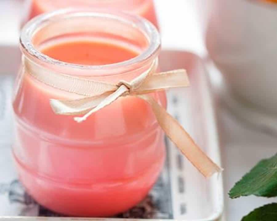 Crème dessert à la fraise Tagada au thermomix