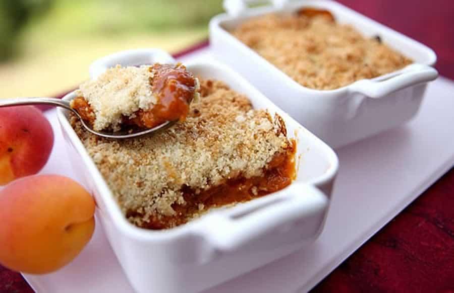 Crumble aux abricots au thermomix
