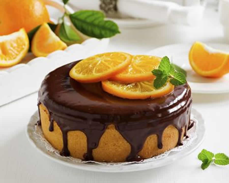 Gâteau à l'orange nappé chocolat au thermomix