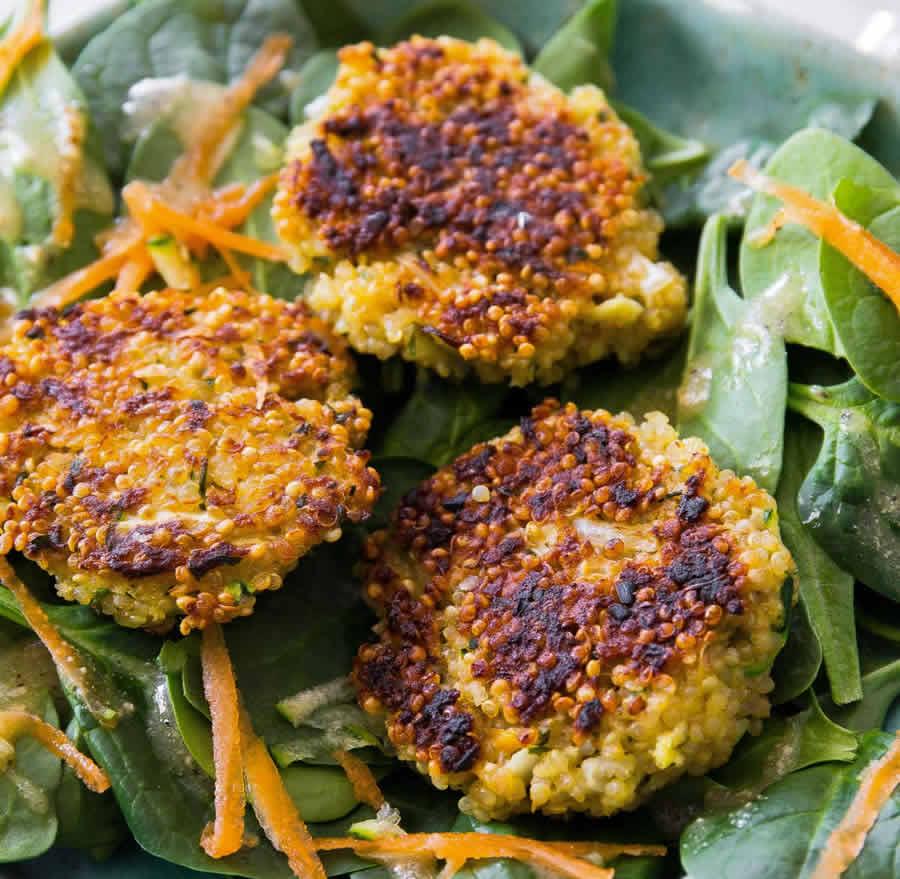Galettes quinoa et légumes au thermomix