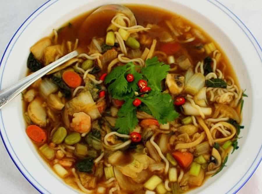 Soupe aux saveurs asiatiques au thermomix recette thermomix - Recette soupe thermomix ...