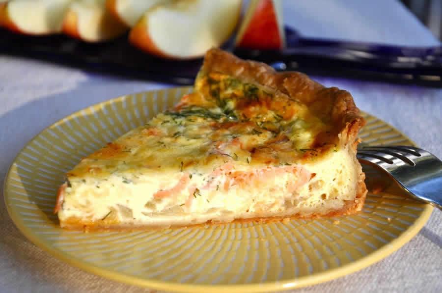 Tarte aux deux saumons au thermomix